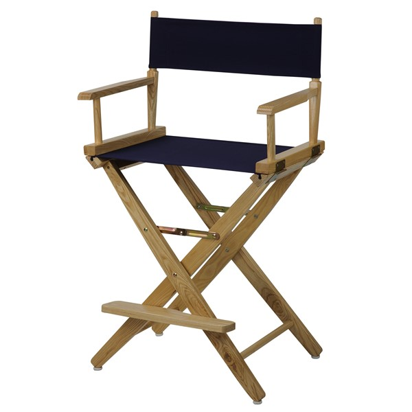Casual Home Natural Navy Extra Wide Premium 24 Inch Directors Chairs CHOM-206-20-FS-CH-VAR
