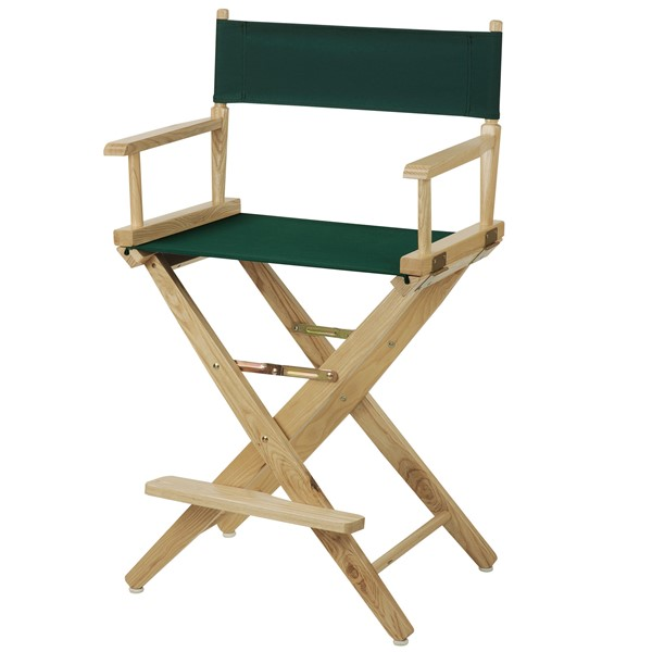 Casual Home Natural Hunter Green Extra Wide Premium 24 Inch Directors Chair CHOM-206-20-032-32