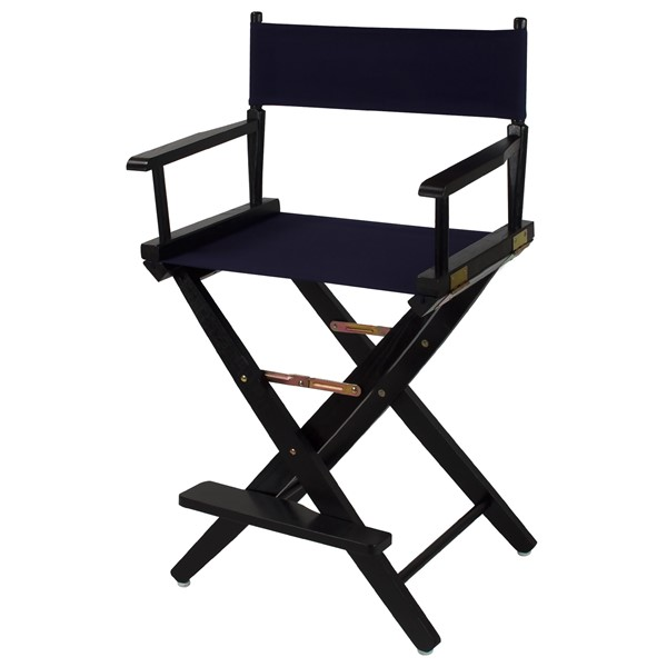 Casual Home Black Navy Extra Wide Premium 24 Inch Directors Chairs CHOM-206-22-FS-CH-VAR