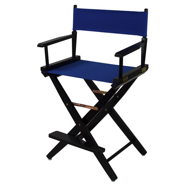 Casual Home Black Royal Blue Extra Wide Premium 24 Inch Directors Chair CHOM-206-22-032-13