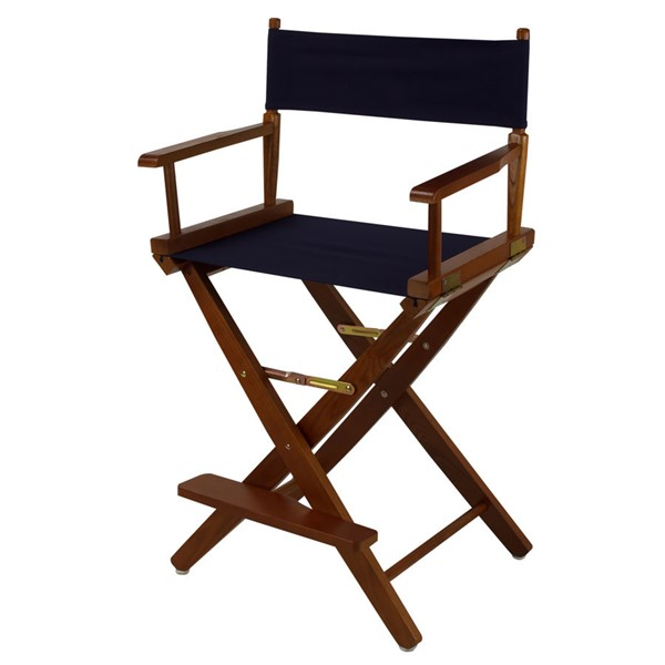 Casual Home Oak Navy Extra Wide Premium 24 Inch Directors Chairs CHOM-206-24-FS-CH-VAR