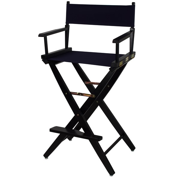 Casual Home Black Navy Extra Wide Premium 30 Inch Directors Chairs CHOM-206-32-FS-CH-VAR