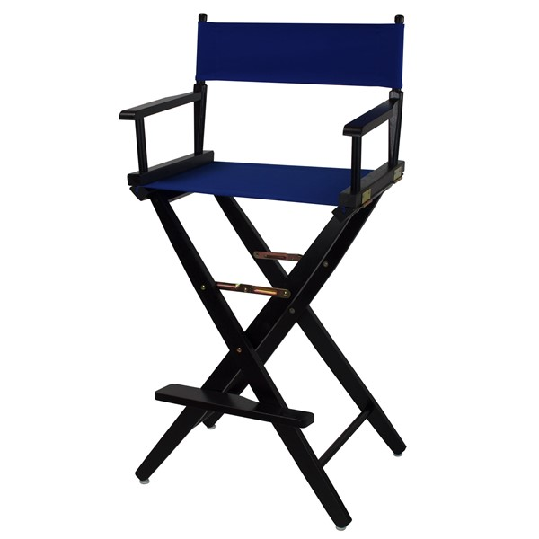 Casual Home Black Royal Blue Extra Wide Premium 30 Inch Directors Chair CHOM-206-32-032-13