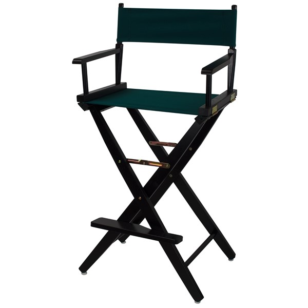 Casual Home Black Hunter Green Extra Wide Premium 30 Inch Directors Chair CHOM-206-32-032-32
