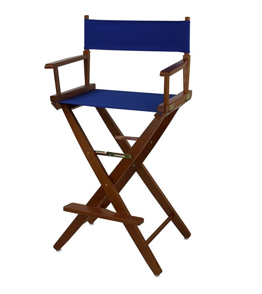 Casual Home Oak Royal Blue Extra Wide Premium 30 Inch Directors Chair CHOM-206-34-032-13