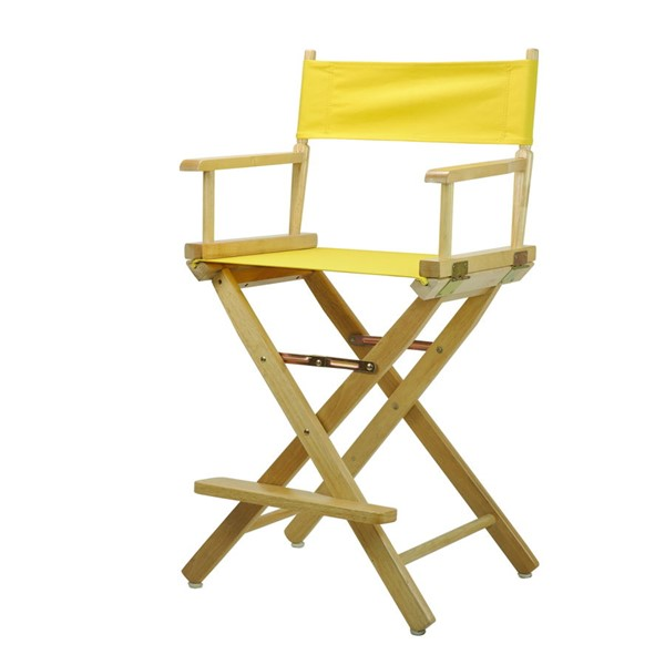 Casual Home Natural Yellow Canvas 24 Inch Directors Chair CHOM-220-00-021-14