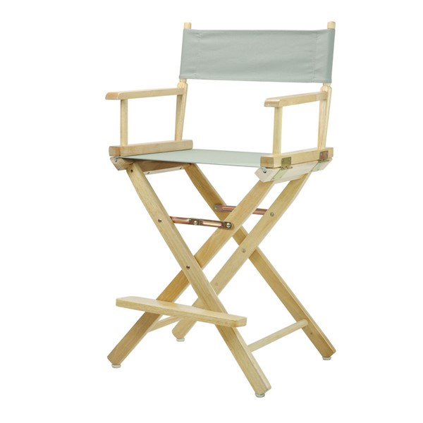 Casual Home Natural Gray Canvas 24 Inch Directors Chair CHOM-220-00-021-18