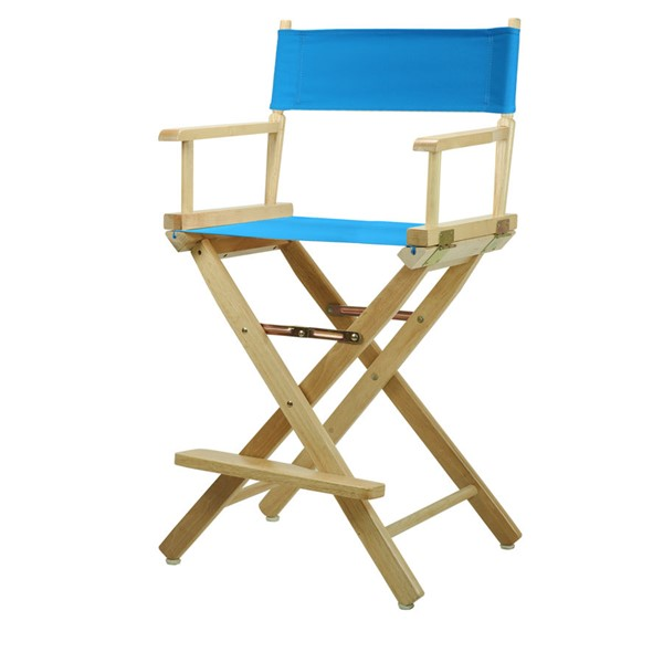 Casual Home Natural Turquoise Canvas 24 Inch Directors Chair CHOM-220-00-021-27