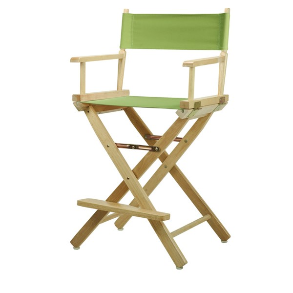 Casual Home Natural Lime Green Canvas 24 Inch Directors Chair CHOM-220-00-021-72