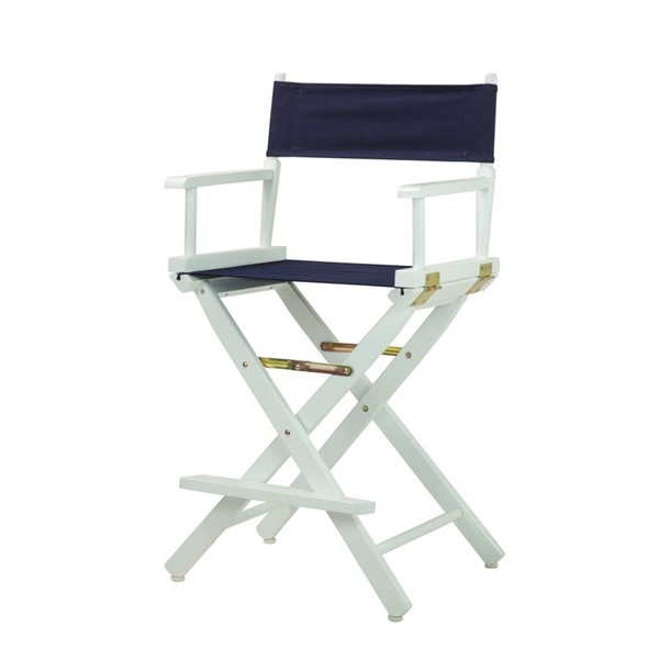 Casual Home White Canvas 24 Inch Directors Chairs CHOM-220-01-FS-CH-VAR