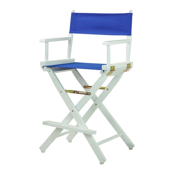 Casual Home White Royal Blue Canvas 24 Inch Directors Chair CHOM-220-01-021-13