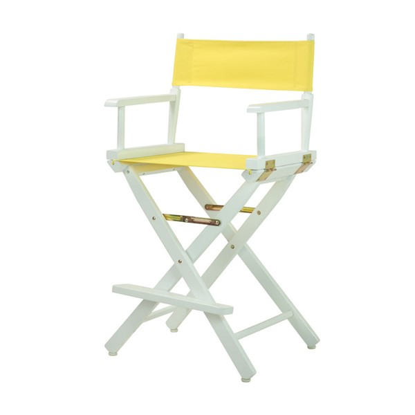 Casual Home White Yellow Canvas 24 Inch Directors Chair CHOM-220-01-021-14
