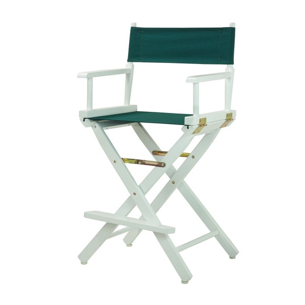 Casual Home White Hunter Green Canvas 24 Inch Directors Chair CHOM-220-01-021-32