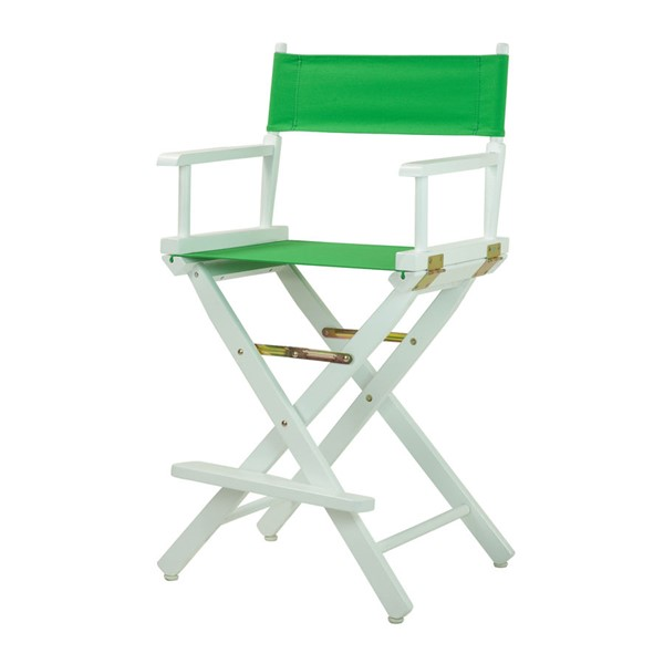 Casual Home White Green Canvas 24 Inch Directors Chair CHOM-220-01-021-33