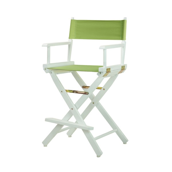 Casual Home White Lime Green Canvas 24 Inch Directors Chair CHOM-220-01-021-72