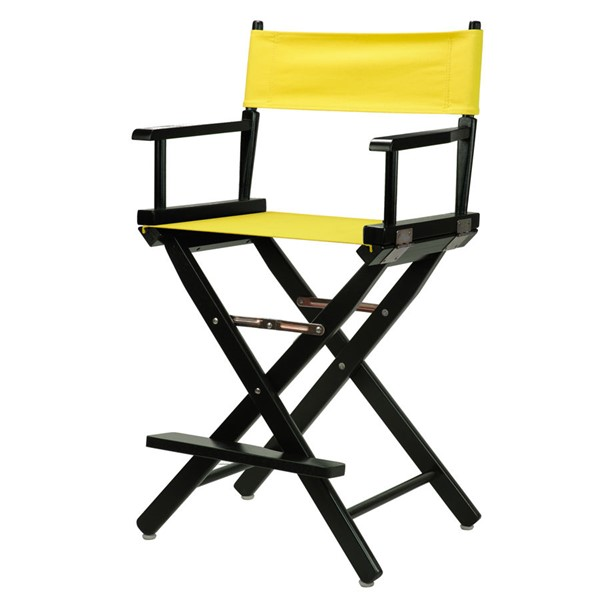 Casual Home Black Yellow Canvas 24 Inch Directors Chair CHOM-220-02-021-14