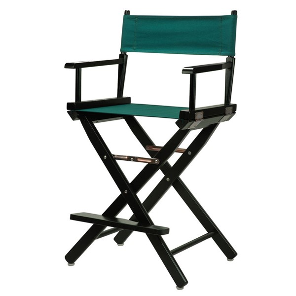 Casual Home Black Hunter Green Canvas 24 Inch Directors Chair CHOM-220-02-021-32