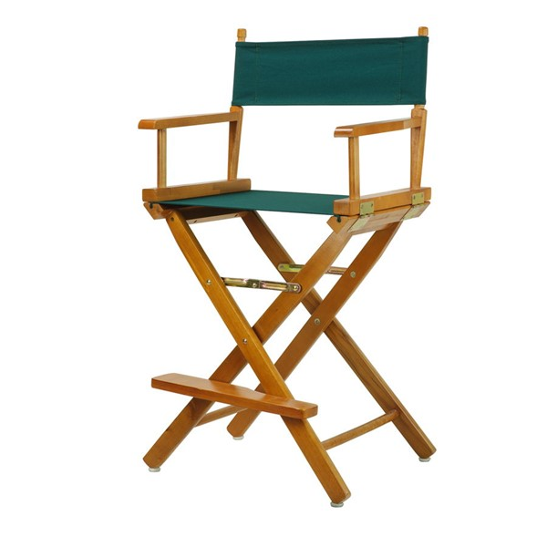 Casual Home Honey Oak Hunter Green Canvas 24 Inch Directors Chair CHOM-220-05-021-32