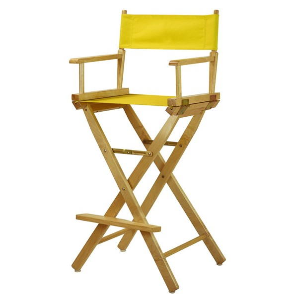 Casual Home Natural Yellow Canvas 30 Inch Directors Chair CHOM-230-00-021-14