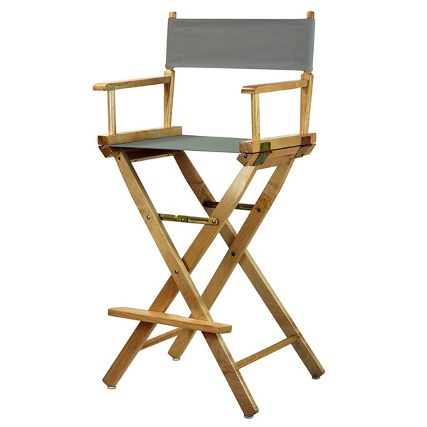 Casual Home Natural Gray Canvas 30 Inch Directors Chair CHOM-230-00-021-18