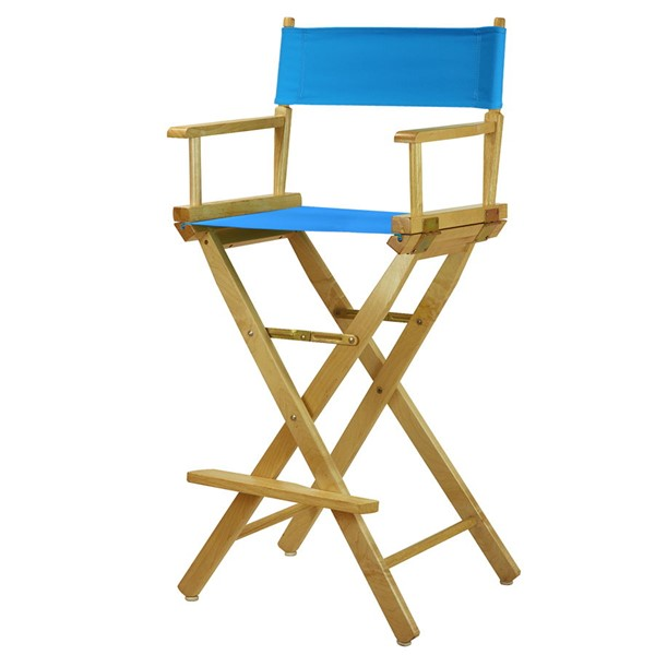 Casual Home Natural Turquoise Canvas 30 Inch Directors Chair CHOM-230-00-021-27
