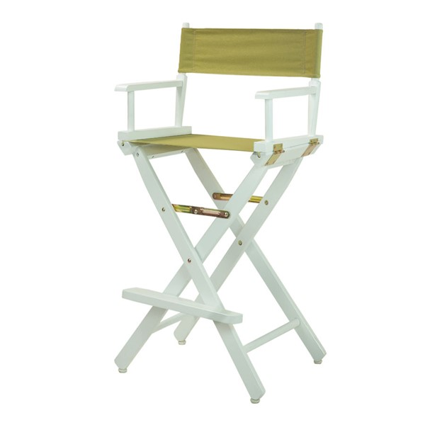 Casual Home White Olive Canvas 30 Inch Directors Chair CHOM-230-01-021-100
