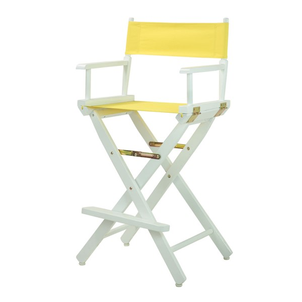 Casual Home White Yellow Canvas 30 Inch Directors Chair CHOM-230-01-021-14