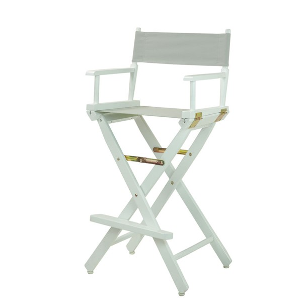 Casual Home White Gray Canvas 30 Inch Directors Chair CHOM-230-01-021-18