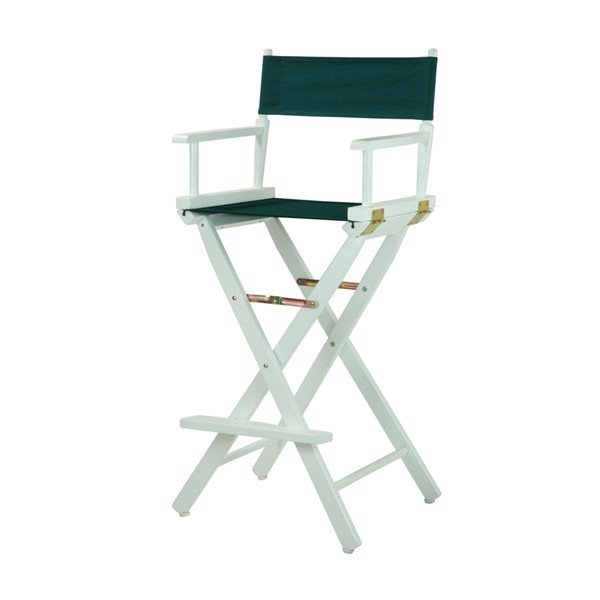 Casual Home White Hunter Green Canvas 30 Inch Directors Chair CHOM-230-01-021-32