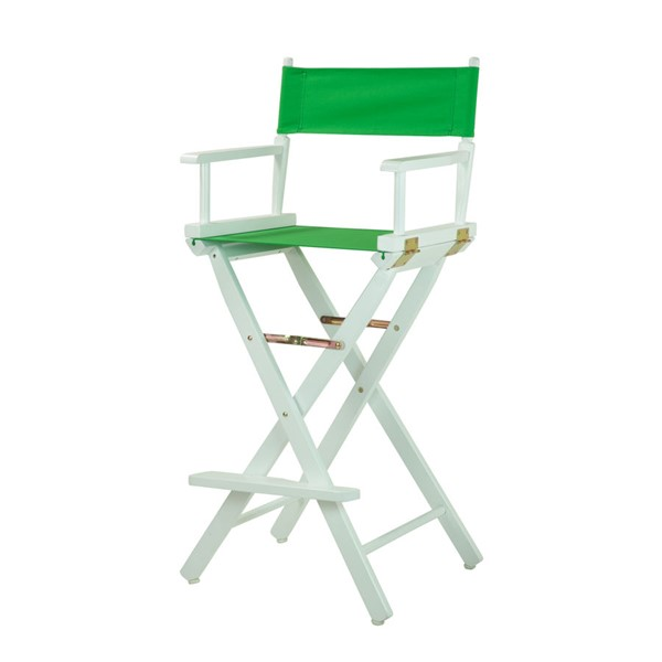 Casual Home White Green Canvas 30 Inch Directors Chair CHOM-230-01-021-33