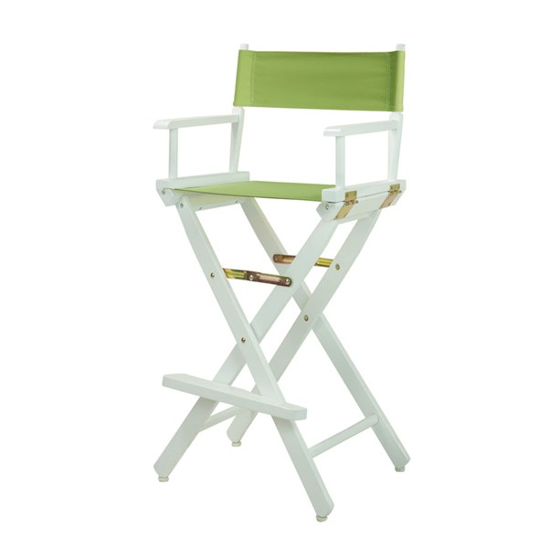 Casual Home White Lime Green Canvas 30 Inch Directors Chair CHOM-230-01-021-72