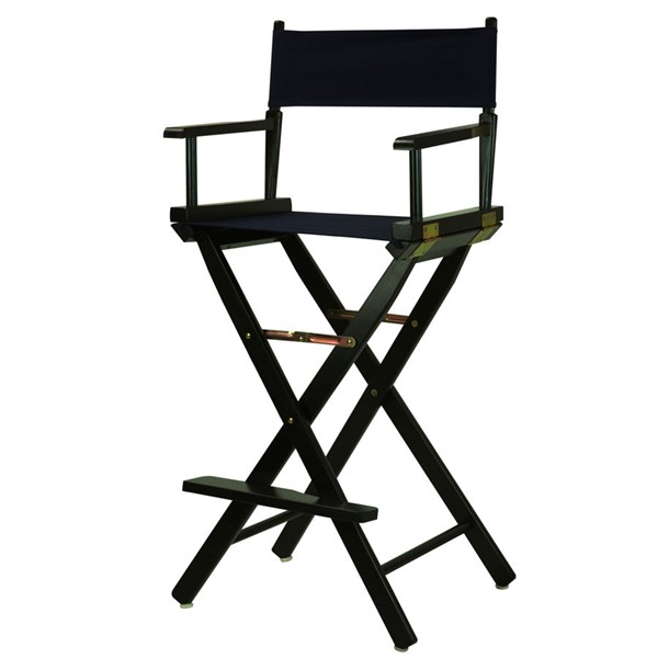 Casual Home Black Navy Canvas 30 Inch Directors Chair CHOM-230-02-021-10