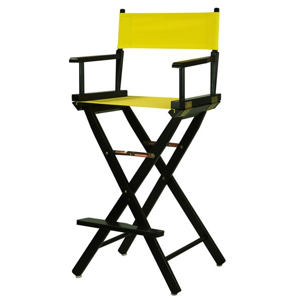 Casual Home Black Yellow Canvas 30 Inch Directors Chair CHOM-230-02-021-14