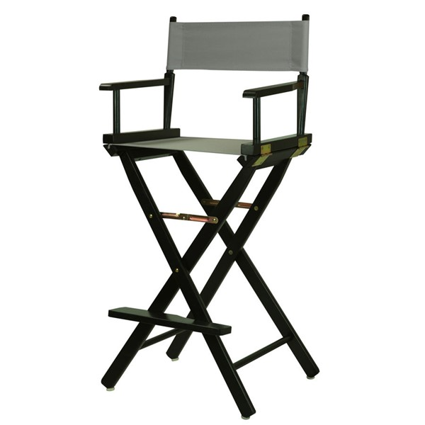 Casual Home Black Gray Canvas 30 Inch Directors Chair CHOM-230-02-021-18