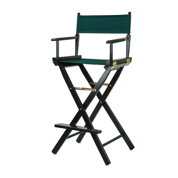 Casual Home Black Hunter Green Canvas 30 Inch Directors Chair CHOM-230-02-021-32