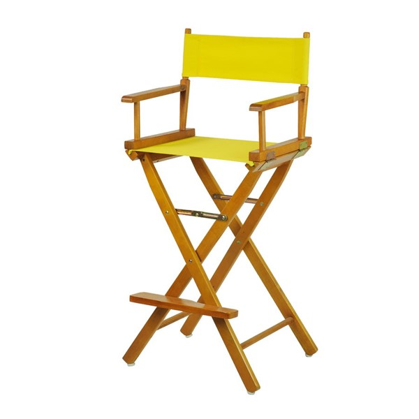 Casual Home Honey Oak Yellow Canvas 30 Inch Directors Chair CHOM-230-05-021-14