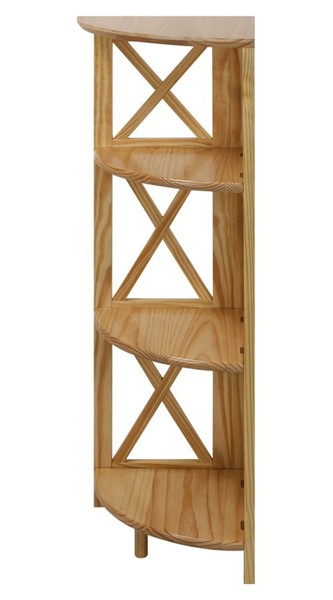 Casual Home Montego Natural Corner 4 Shelves Folding Bookcase CHOM-301-10