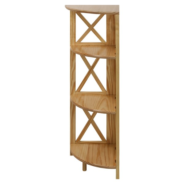 Casual Home Montego Corner 4 Shelves Folding Bookcases CHOM-301-10-BK-VAR