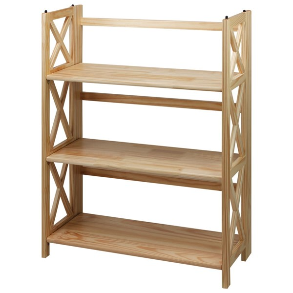Casual Home Montego Natural 3 Shelves Folding Bookcase CHOM-301-30