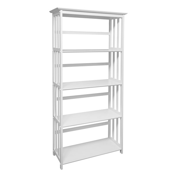 Casual Home Mission White Solid Wood Bookcase CHOM-310-61