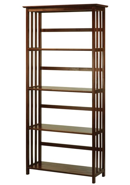 Casual Home Mission Walnut Solid Wood Bookcase CHOM-310-64