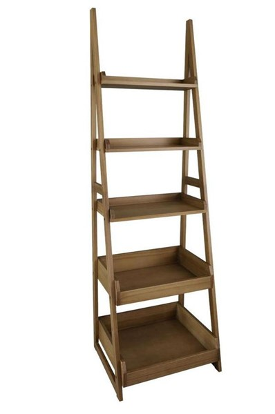 Casual Home Alpine Gray Wood Ladder Bookcase CHOM-318-827
