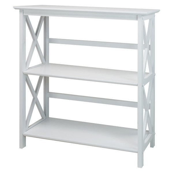 Casual Home Montego White 3 Shelves Bookcase CHOM-324-31