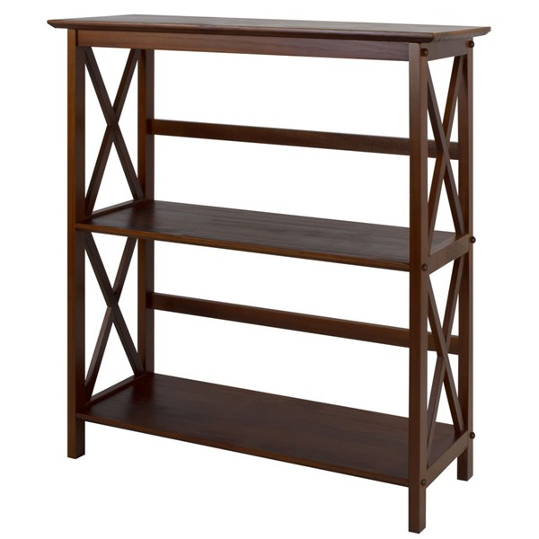 Casual Home Montego Walnut 3 Shelves Bookcase CHOM-324-34