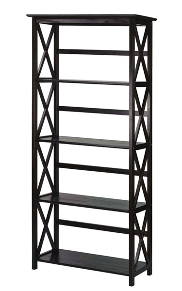Casual Home Montego Espresso 5 Shelves Bookcase CHOM-324-53