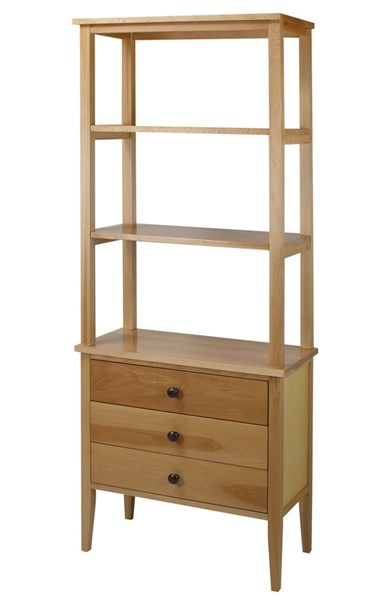 Casual Home Edison Natural Bookcase With Drawers CHOM-328-40