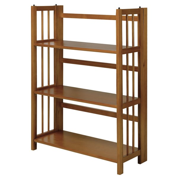 Casual Home Chestnut 3 Shelves Folding Stackable Bookcase CHOM-330-224