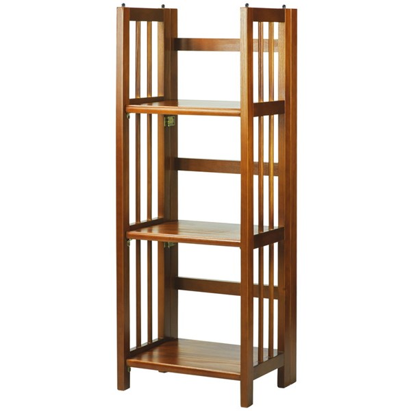 Casual Home Honey Oak 3 Shelves Folding Bookcase CHOM-331-35