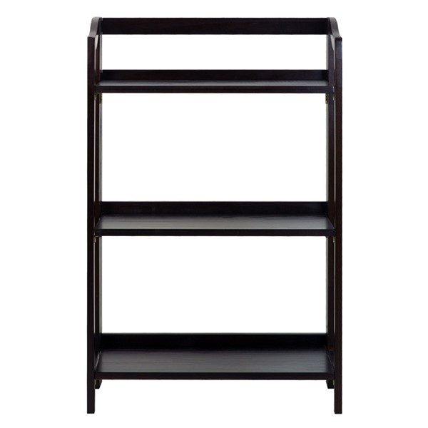 Casual Home Stratford Espresso 3 Shelves Folding Bookcase CHOM-337-33