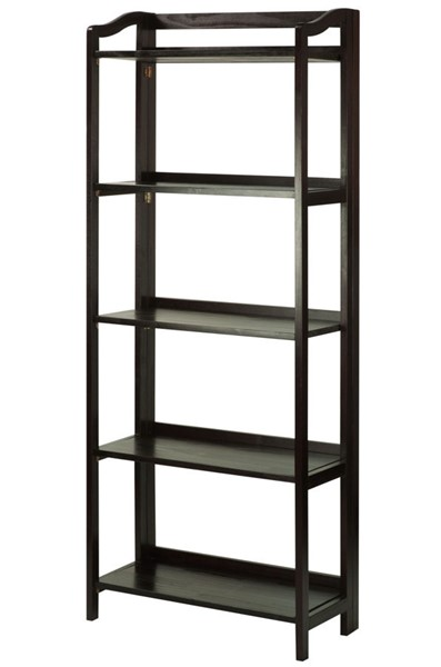 Casual Home Stratford Espresso 5 Shelves Folding Bookcase CHOM-337-53